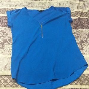 Express blue dress shirt